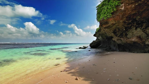 Turquoise shore 2 loop Stock Video Footage