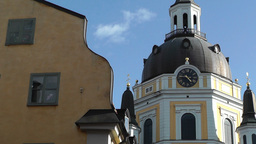 Katarina Church in Stockholm Stock Video Footage