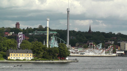 Stockholm Amusement Park Stock Video Footage