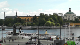 Stockholm Downtown 01 view from Gamla Stan Stock Video Footage