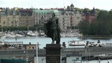 Stockholm Downtown 05 view from Gamla Stan Footage