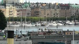 Stockholm Downtown 07 view from Gamla Stan Footage