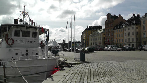 Stockholm Downtown 13 Gamla Stan Stock Video Footage