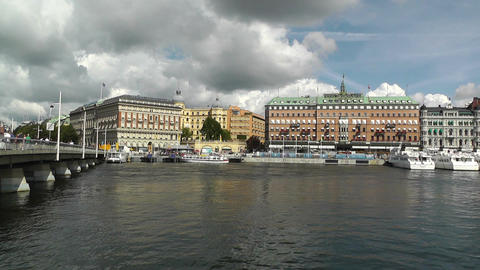 Stockholm Downtown 24 Stock Video Footage