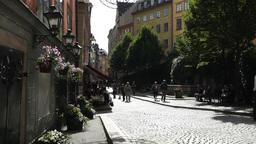 Stockholm Downtown 27 Gamla Stan Stock Video Footage