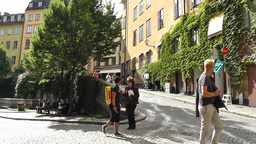 Stockholm Downtown 29 Gamla Stan Stock Video Footage