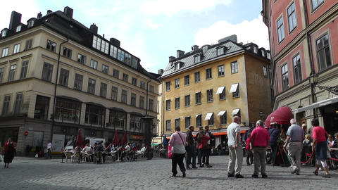 Stockholm Downtown 31 Gamla Stan Stock Video Footage