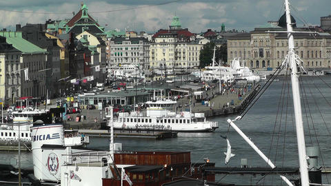 Stockholm Downtown 33 Gamla Stan Stock Video Footage