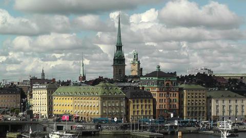 Stockholm Downtown 39 Gamla Stan Stock Video Footage
