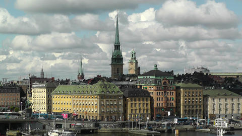 Stockholm Downtown 39 Gamla Stan Stock Video Footage
