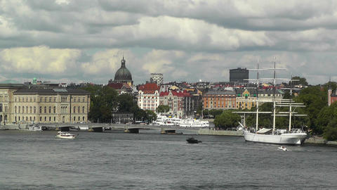 Stockholm Downtown 41 Stock Video Footage