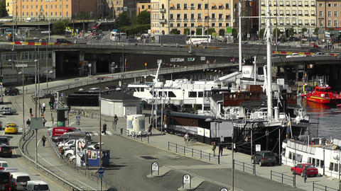 Stockholm Downtown 43 Stock Video Footage