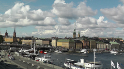 Stockholm Downtown 45 pan Footage