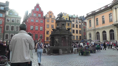 Stockholm Downtown 49 Gamla Stan Stock Video Footage
