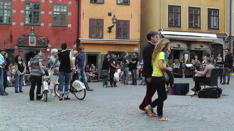 Stockholm Downtown 53 Gamla Stan Stock Video Footage