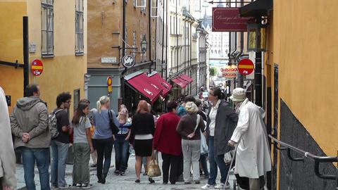 Stockholm Downtown 55 Gamla Stan Stock Video Footage