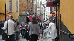 Stockholm Downtown 55 Gamla Stan Stock Video Footage