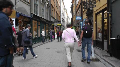 Stockholm Downtown 57 Gamla Stan Stock Video Footage