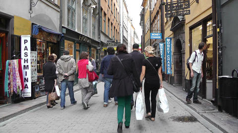 Stockholm Downtown 57 Gamla Stan Stock Video Footage
