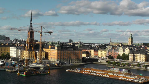 Stockholm Downtown 59 Gamla Stan Stock Video Footage