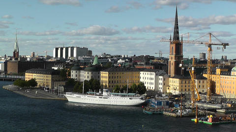 Stockholm Downtown 61 Gamla Stan Stock Video Footage