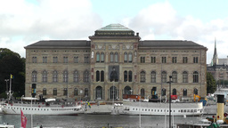 Stockholm Downtown Swedish National Museum 01 Stock Video Footage