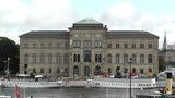 Stockholm Downtown Swedish National Museum 01 stock footage