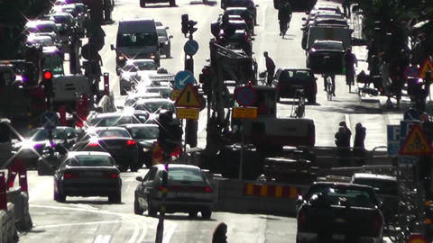 Stockholm Street 04 traffic Stock Video Footage