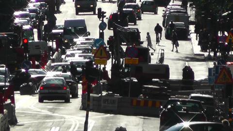 Stockholm Street 04 traffic Stock Video Footage