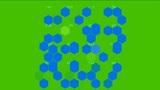 Hexagon chemical molecular Animation