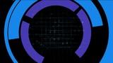rotation computer circles interface & mesh,tech GPS tracking system & so Animation