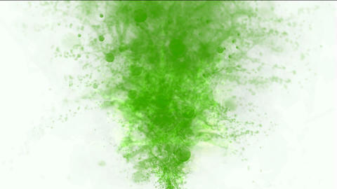 green erupt smoke Stock Video Footage