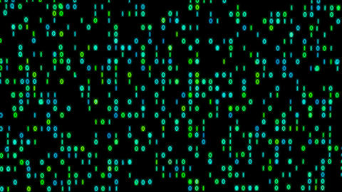 Data Stream Binary Glowing 4K stock footage