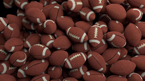 American footballs fill screen transition composite overlay 4K Footage