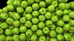 Apples green fill screen transition composite overlay element 4K Footage