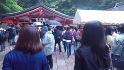 Kyoto, Japan - Japanese people and tourists enter Fushimi Inari Shrine in Kyoto Footage
