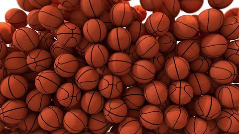 Basketballs fill screen transition basket ball composite overlay 4K Footage