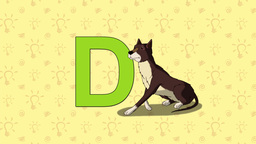 Dog. English ZOO Alphabet - letter D Live Action
