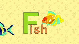 Fish. English ZOO Alphabet - letter F Live Action