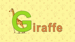 Giraffe. English ZOO Alphabet - letter G Live Action