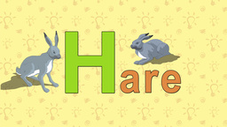 Hare. English ZOO Alphabet - letter H Footage