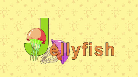 Jellyfish. English ZOO Alphabet - letter J Live Action