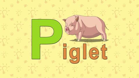 Piglet. English ZOO Alphabet - letter P Live Action