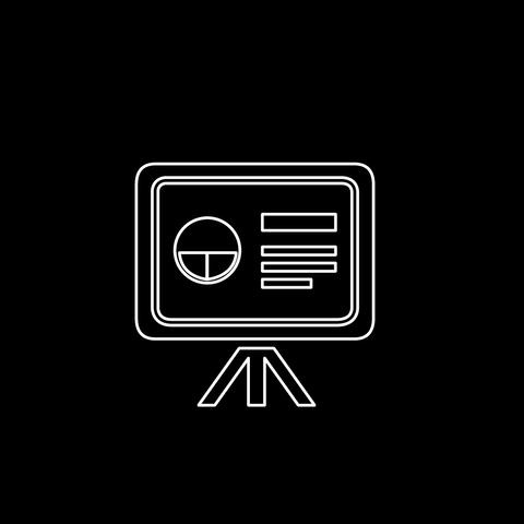 Blackboard Thin Icon With Alpha Channel Animation