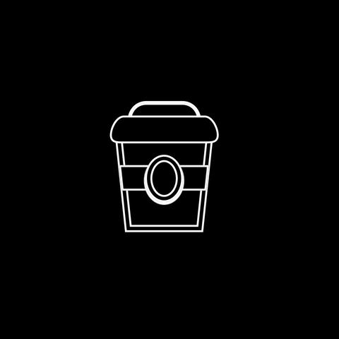 Сoffee Thin Icon With Alpha Channel Animation