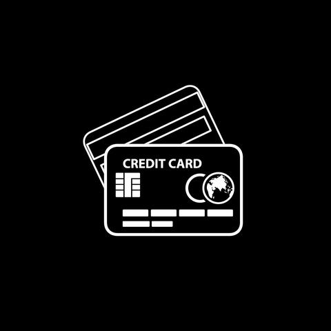 Credit Card Thin Icon With Alpha Channel 圖片