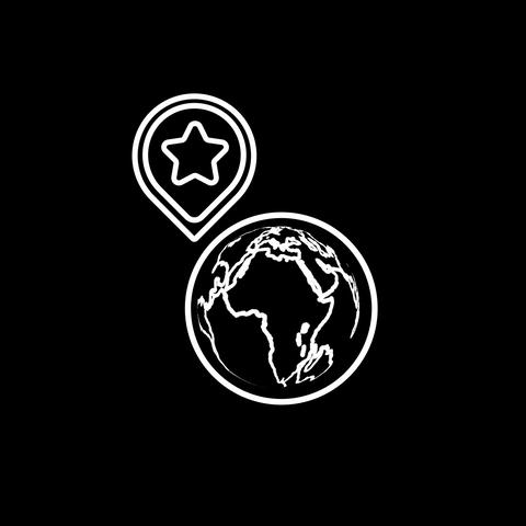 Geolocation Thin Icon With Alpha Channel Animation