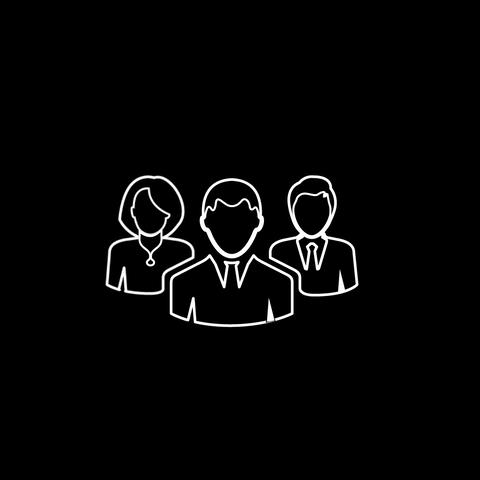Group Of People Thin Icon With Alpha Channel GIF