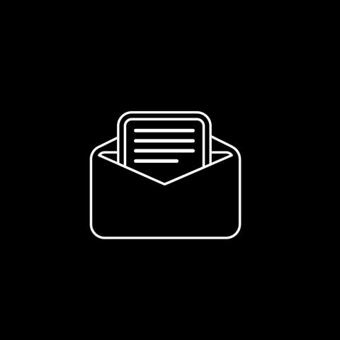 Mail Thin Icon With Alpha Channel GIF