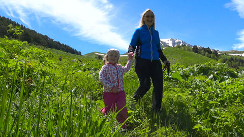 Hiking trails of the Caucasian reserve. Russia Live Action